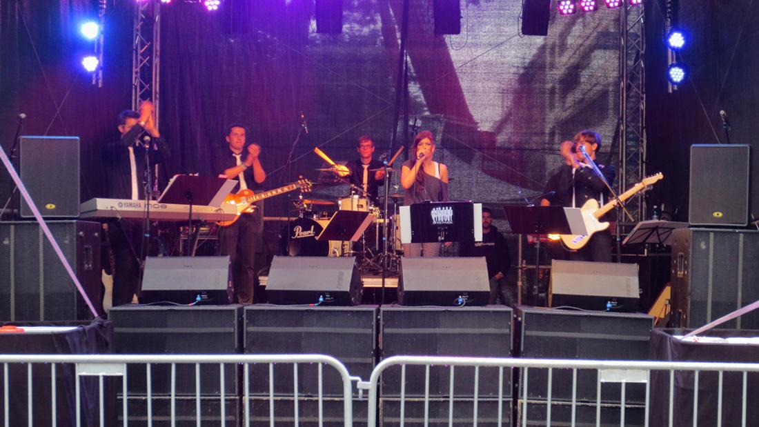Die Fyvels auf dem Aschaffenburger Stadtfest auf der Kunzmann-Cena-Bühne